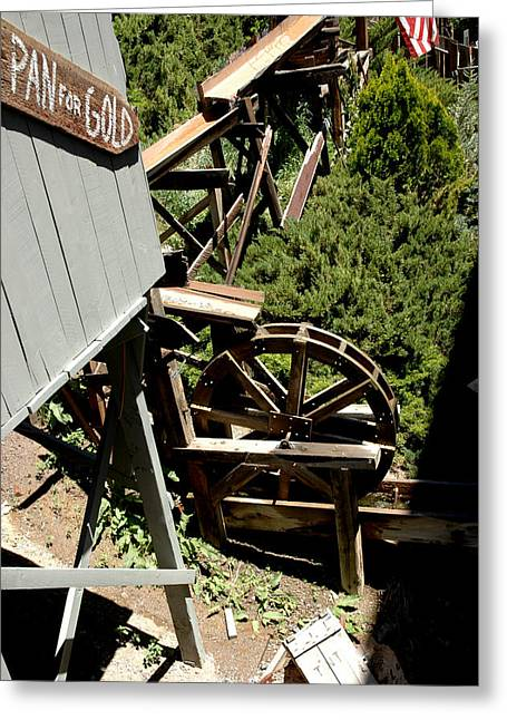 Panning For Gold In Virginia City Nevada Greeting Card by LeeAnn McLaneGoetz McLaneGoetzStudioLLCcom