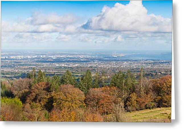 Panorama Of Dublin City And The Dublin Bay Greeting Card