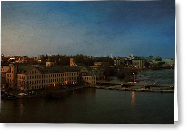 Panoramic Appleton Skyline Greeting Card by Joel Witmeyer