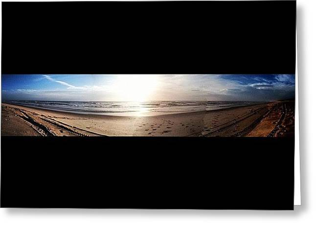 Panoramic Picture Of The Sunrise Greeting Card