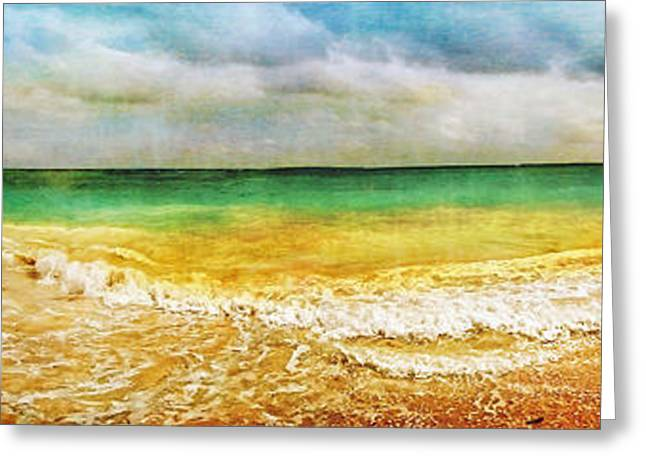 Panoramic Seaside At Tulum Greeting Card by Tammy Wetzel