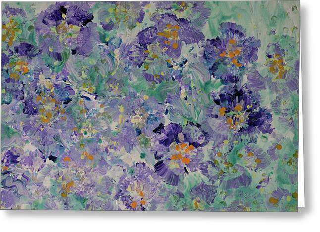Pansy Fancy Painting  Greeting Card by Don Wright