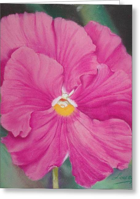 Pansy Iv Greeting Card by Loueen Morrison