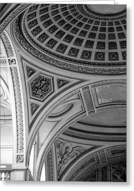 Pantheon Arches Greeting Card by Sebastian Musial