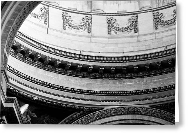 Pantheon Dome Greeting Card by Sebastian Musial