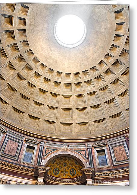 Greeting Card featuring the photograph Pantheon  by Luciano Mortula