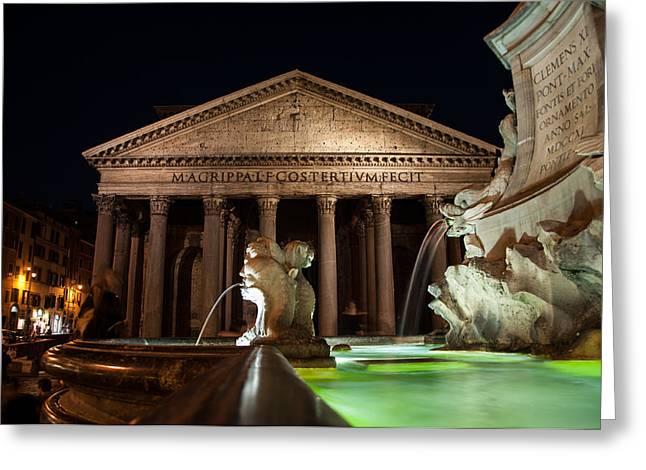 Pantheon Rome Greeting Card by Stavros Argyropoulos
