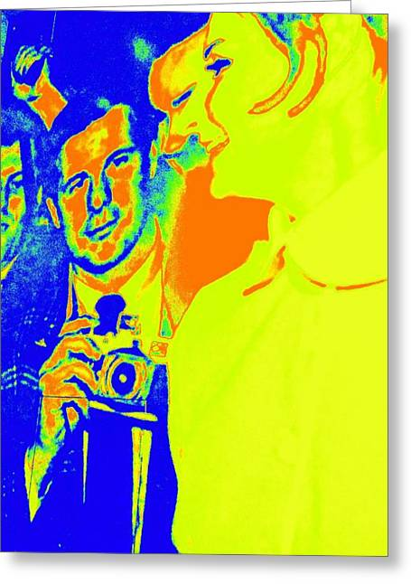 Paparazzi Celebrity Greeting Card by Randall Weidner