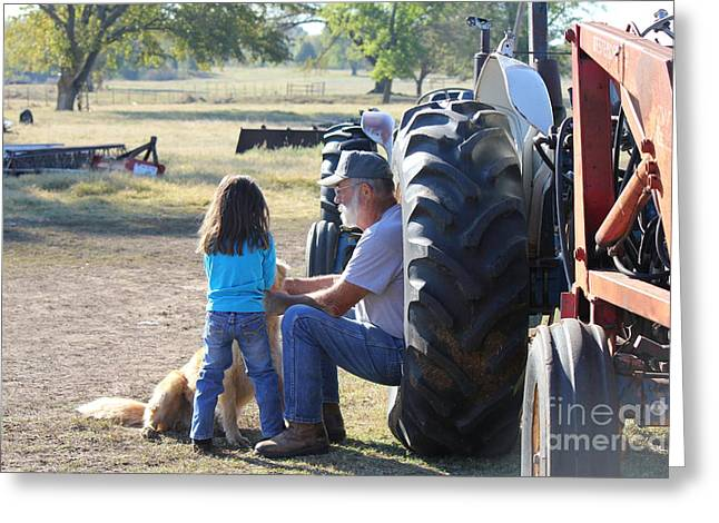 Papa's Farm Greeting Card