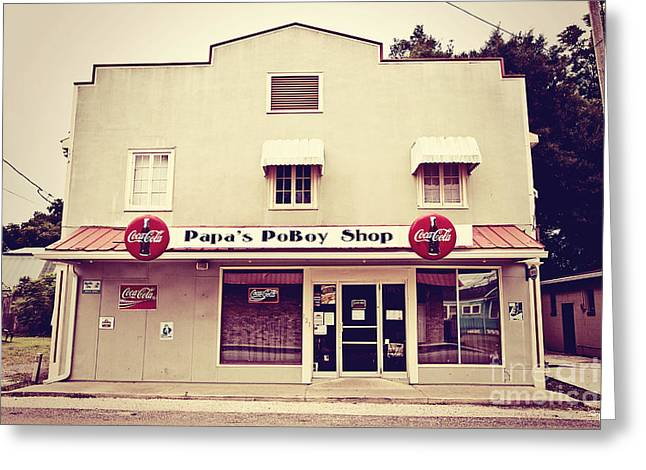 Papa's Poboy's Greeting Card by Scott Pellegrin