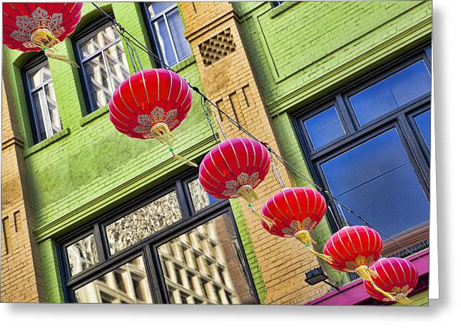 Paper Lanterns Greeting Card by Kelley King