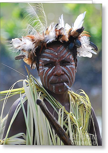 Papuan Fisherwoman Greeting Card
