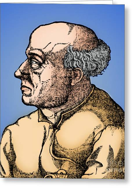 Paracelsus, Swiss Polymath Greeting Card by Science Source