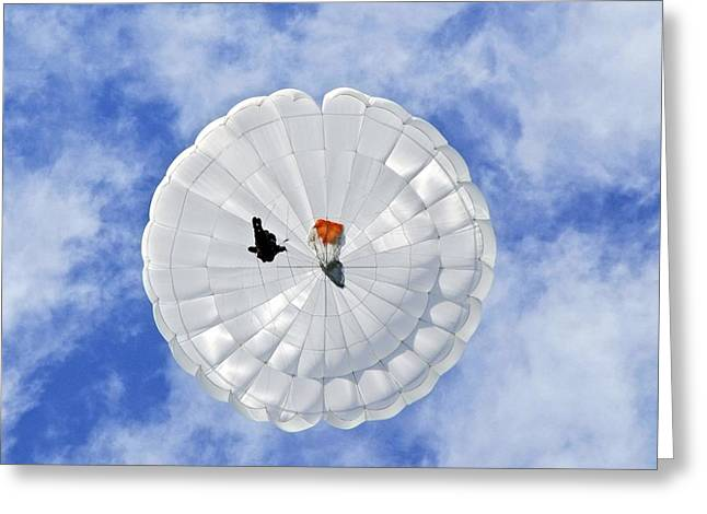 Parachute Seen From Below Greeting Card by Ria Novosti