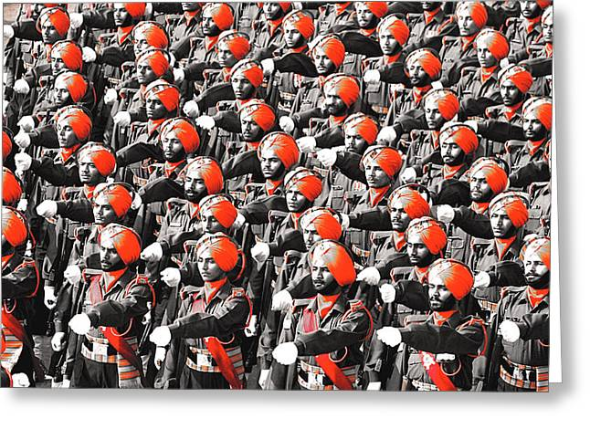 Parade March Indian Army Greeting Card by Sumit Mehndiratta