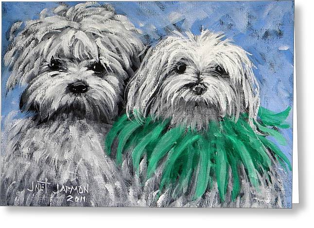 Parade Pups Greeting Card by Jeanette Jarmon