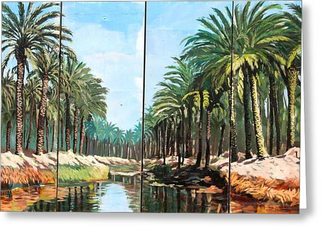Paradise Canal - Basrah Iraq Greeting Card by Unknown
