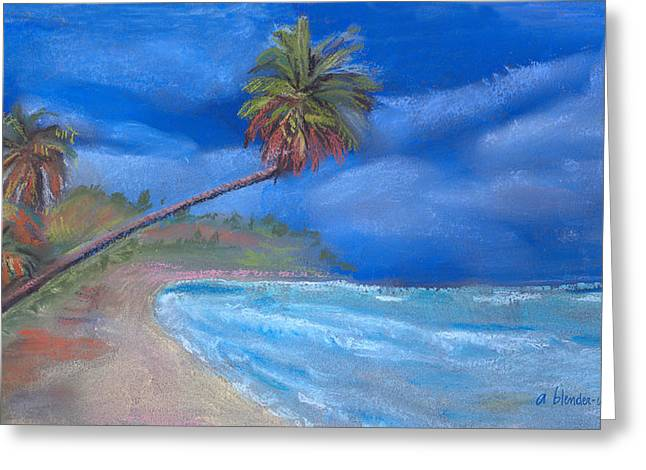 Greeting Card featuring the pastel Paradise In Puerto Rico by Arline Wagner