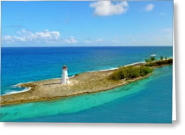 Paradise Island Greeting Card by Kathy Jennings