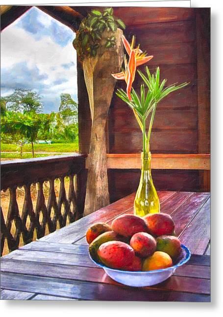 Paradise Greeting Card by Nadia Sanowar