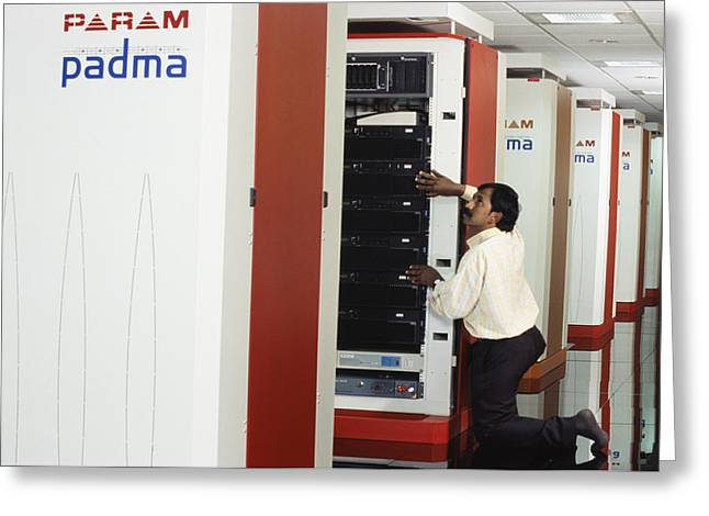 Param Padma Supercomputer Greeting Card by Volker Steger