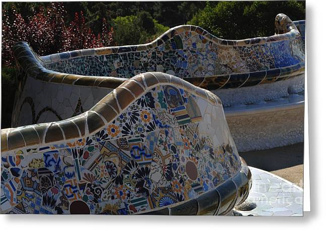 Parc Guell Barcelona Greeting Card by Bob Christopher