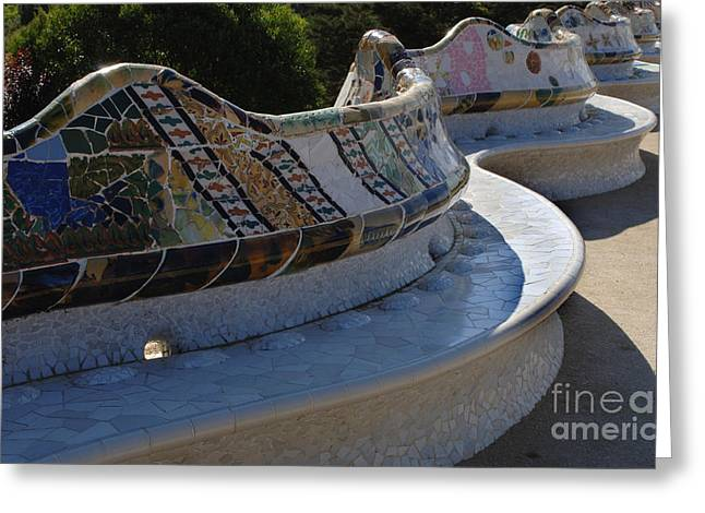Parc Guell Spain Greeting Card by Bob Christopher