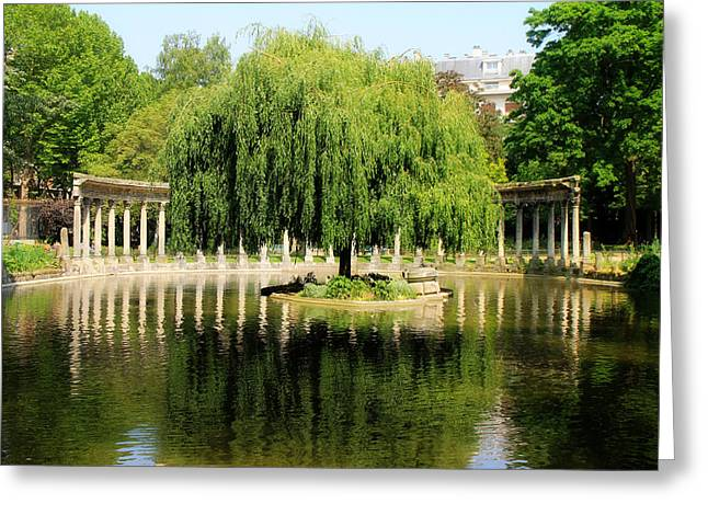 Parc Monceau Paris Greeting Card by Andrew Fare