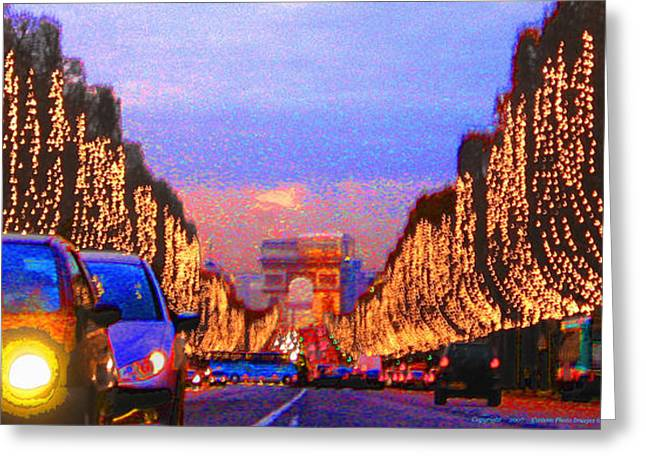 Paris 04 Greeting Card by Yuriy  Shevchuk