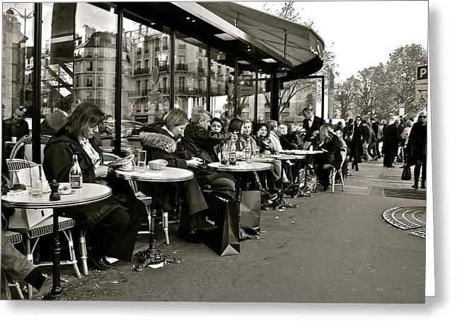 Greeting Card featuring the photograph Paris Cafe by Eric Tressler