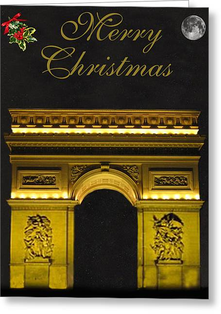 Paris Christmas Fashion  Greeting Card by Eric Kempson