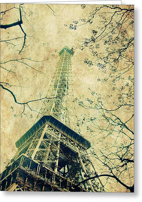 Paris Eiffel Greeting Card by Antonietta Pics