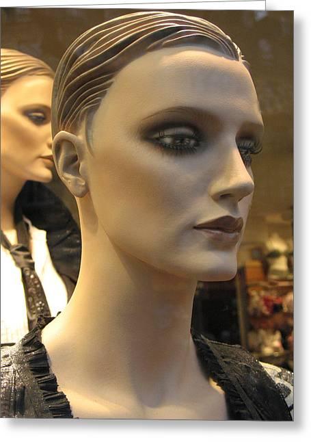 Paris Female Faces Beautiful Mannequin Art Greeting Card