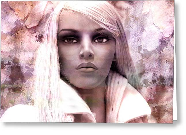 Paris Female Mannequin Face Closeup Greeting Card by Kathy Fornal