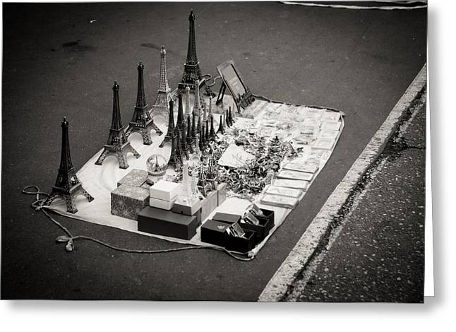 Greeting Card featuring the photograph Paris For Sale by Edward Myers