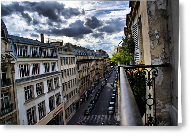 Greeting Card featuring the photograph Paris From A Balcony by Edward Myers