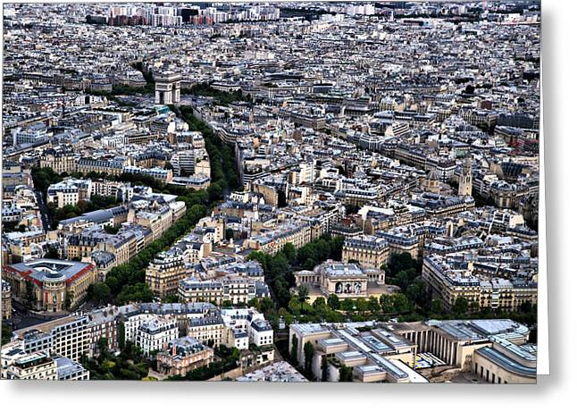 Greeting Card featuring the photograph Paris From Above 2 by Edward Myers