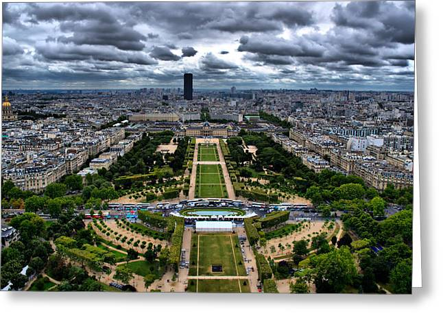 Greeting Card featuring the photograph Paris From Above by Edward Myers