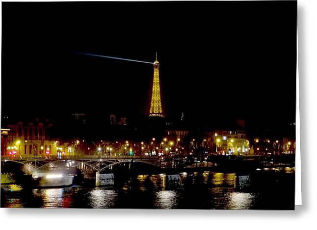 Paris Night Greeting Card by Keith Stokes