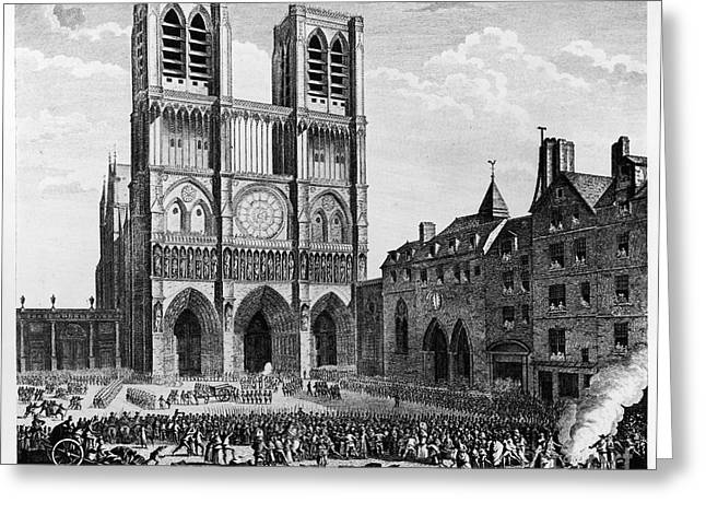 Paris: Notre Dame, 1790 Greeting Card by Granger