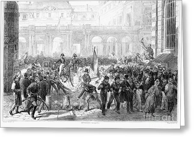 Paris: Revolution Of 1830 Greeting Card by Granger