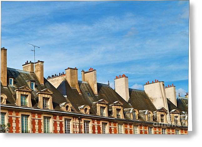 Greeting Card featuring the photograph Paris Rooftops by Kim Wilson