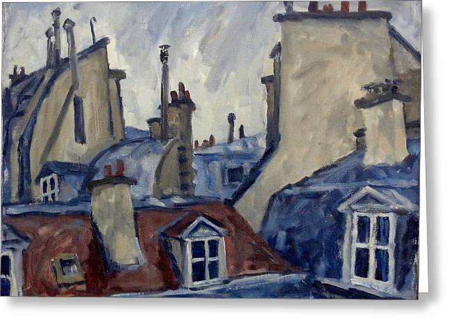 Paris Rooftops Greeting Card by Thor Wickstrom