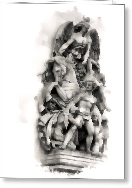 Paris Statuary Greeting Card