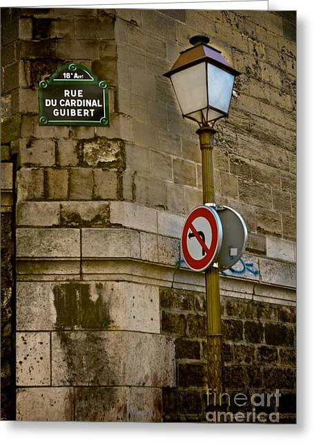Paris Street Corner Greeting Card