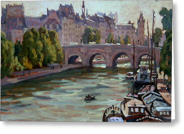 Paris The Seine And Pont Neuf Greeting Card by Thor Wickstrom