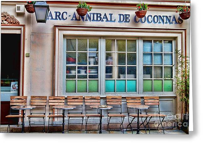 Parisian Cafe Greeting Card