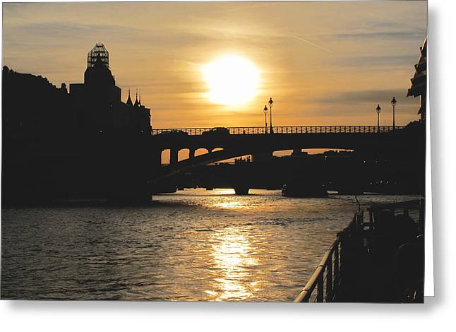 Parisian Sunset Greeting Card