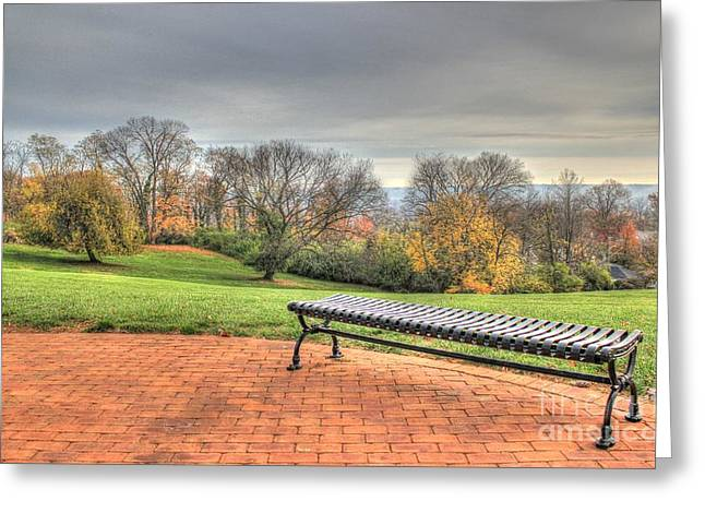 Park Bench Cincinnati Observatory Greeting Card
