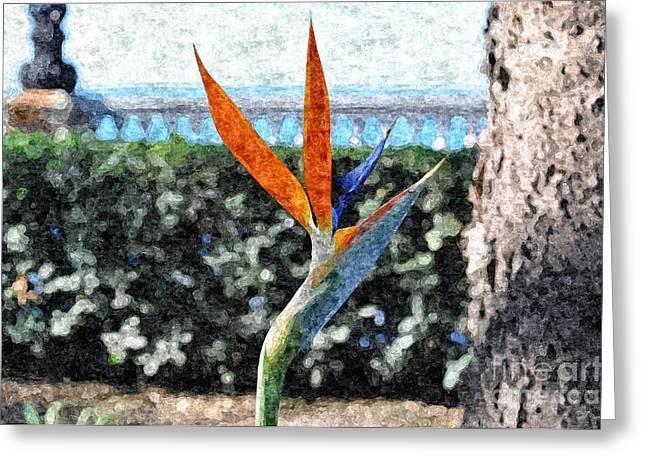 Park Flower Greeting Card by Slavi Begov